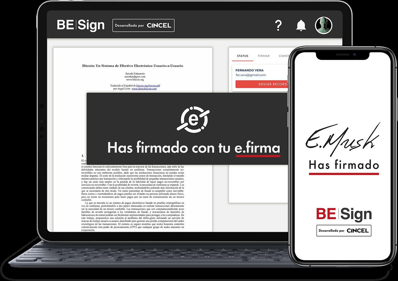 BE Sign desde cualquier dispositivo